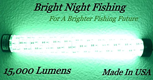Bright Night Fishing Under Water Light Green Led 15000 Lumens Night Fishing 300 LED Green Priority Shipping Submersible Salt fresh water dock light boat crappie 12v dc (optional 110v ac) BR:15000 by Bright Night Fishing (Image #5)