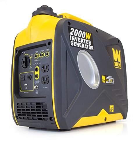 WEN 56200i, 1600 Running Watts/2000 Starting Watts, 4-Stroke Gas Powered Portable Inverter...