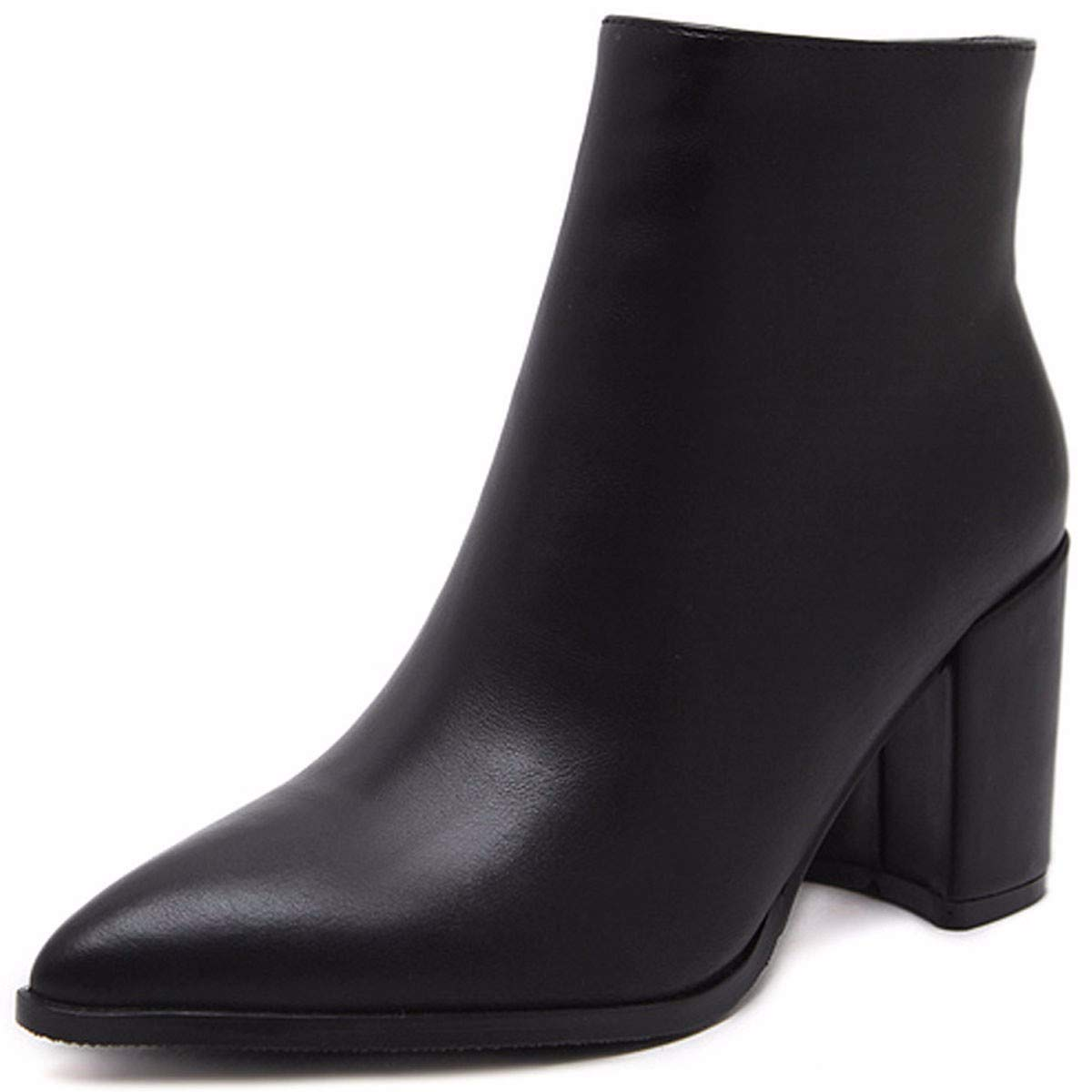 HBDLH Chaussures pour Femmes/A Côté des Talons Hauts l'hiver Les Bottes Épais Martin Nues Tube Court Velours Bottes Wild Boots.