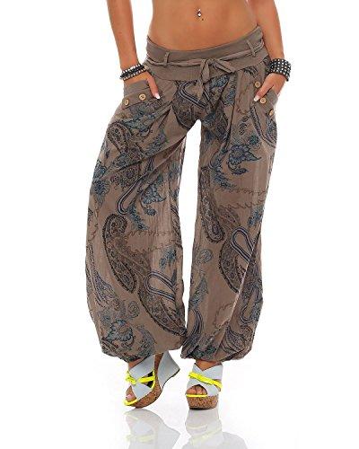 Pluder Sarouel De Imprimé Bloomers Été Coton Ornement Pantalon Aladin Dames Plage Pantalons Zarmexx Cappuccino 4qXwTT