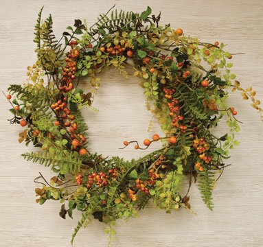 Heart of America Fall Berry Cluster Wreath - 24in.