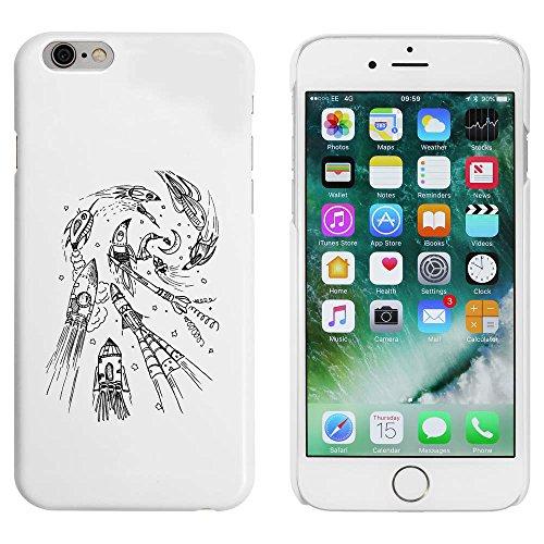 Blanc 'Rockets à la Lune' étui / housse pour iPhone 6 & 6s (MC00019926)