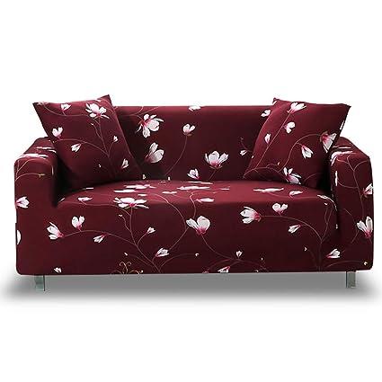 HOTNIU Funda Elástica de Sofá Funda Estampada para sofá Antideslizante Protector Cubierta de Muebles (Tres Plazas, Modelo_mdx)