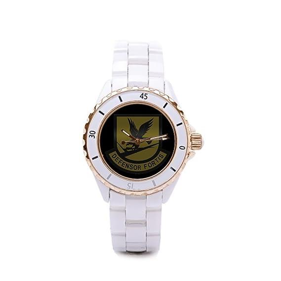 Queensland Buenos relojes protección de la fuerza de cerámica reloj mujer fuerzas de seguridad: Amazon.es: Relojes