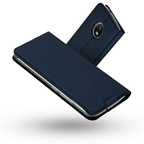 Radoo Funda Moto G5S, Slim Case de Estilo Billetera Carcasa Libro de Cuero,PU Leather con TPU Silicona Case Interna Suave [Función Soporte][Cierre ...