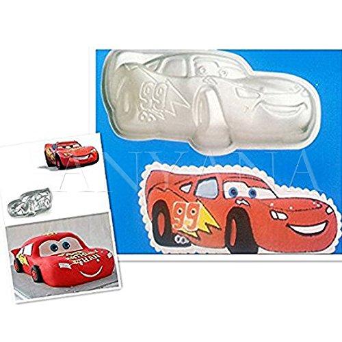 Anyana 3d Lightning Mcqueen Car Cake Pan Tin Mould Sugarpaste Decorating Tools Aluminum -