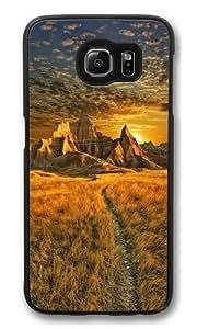 Badlands sunrise Polycarbonate Hard Case Cover for Samsung S6/Samsung Galaxy S6 Black
