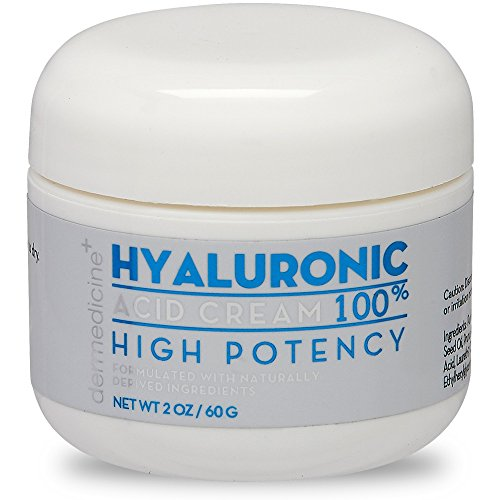 100% Hyaluronic Acid Cream Face w/ Jojoba Oil & Apricot Oil | Professional Grade Intense Hydration Keeps Skin Looking Plump & Feeling Moisturized | Improves Appearance of Skin Color & Tone