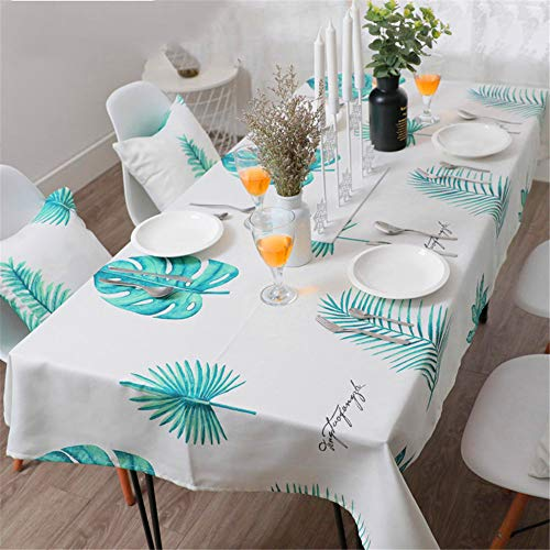 - SSHHJ Garden Thick Tablecloth Turtle Green Leaf Pattern Kitchen Home Decoration A01 60x60cm
