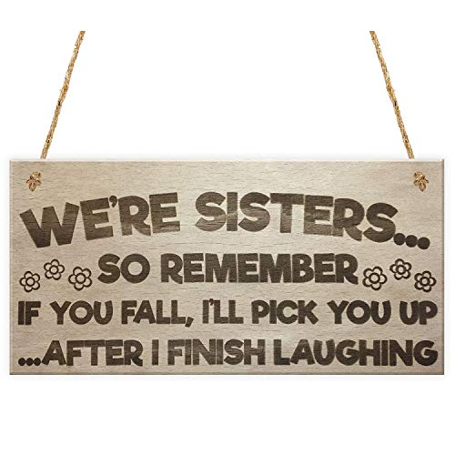 Party Diy Decorations - Sisters Fall Finish Laughing Novelty Wooden Hanging Plaque Sign Funny Sister Gifts - Party Decorations Party Decorations Hillbilly Funny Creative Cult Gift Baker -