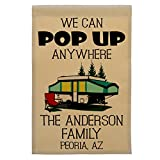 We Can Pop Up Anywhere Pop-up Camper Personalized Campsite Flag, Customize Your Way (Green Pop-up) Review