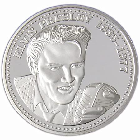Elvis Presley The King Of Rockn Roll 1 Oz Münze 999 Silber Silver