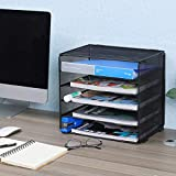 PAG 5-Tier Mesh Desktop File Organizer Mail Sorter