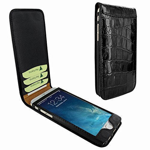 Piel Frama 689 Black Crocodile Magnetic Leather Case for Apple iPhone 6 Plus / 6S Plus by Piel Frama