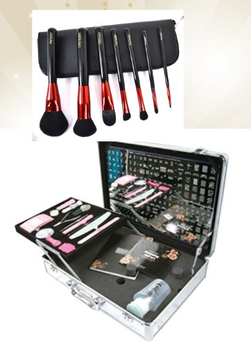 Bundle 2 Items : Konad Nail Art Professional Salon Case with Demo Plate (M1-m36) +Itay Mineral Professional 7 Pc Set Makeup Brushes