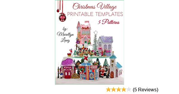photograph about Printable Christmas Village Template called Xmas Village Printable Templates 5 Habits