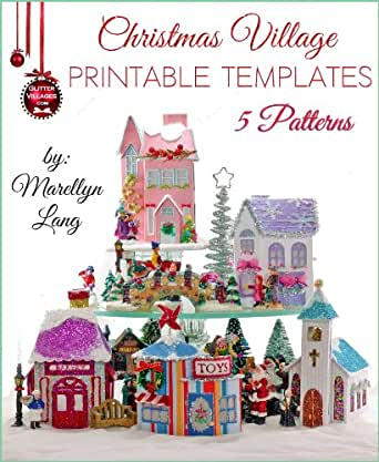 Amazon.com: Christmas Village Printable Templates | 5 Patterns ...