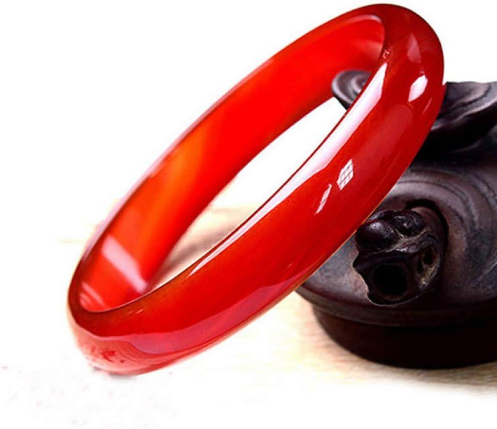 Wenwen Boutique de señora Pulpa roja Natural Pulsera ágata de Color Rojo Brazalete de Jade Fino Tira Estrecha de Hielo Rojo Brazalete de Jade: Amazon.es: Jardín