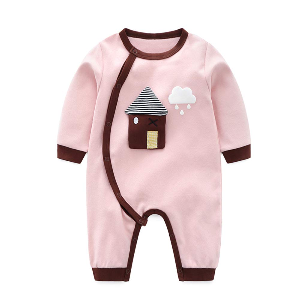 Baby Rompers Cotton Onsises Boys Girls Long Sleeve Sleepsuit Coveralls Cartoon Outfits A160603TZ034D