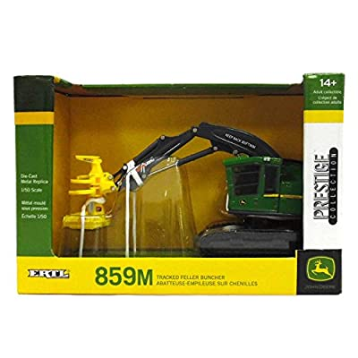 ERTL 1/50 John Deere 859M Tracked Feller Buncher Prestige Collection by 45536: Toys & Games