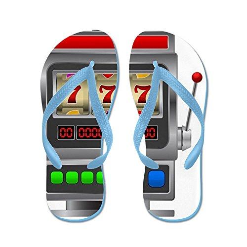 Slot Machine Cafepress - Infradito, Sandali Infradito Divertenti, Sandali Da Spiaggia Blu Caraibico