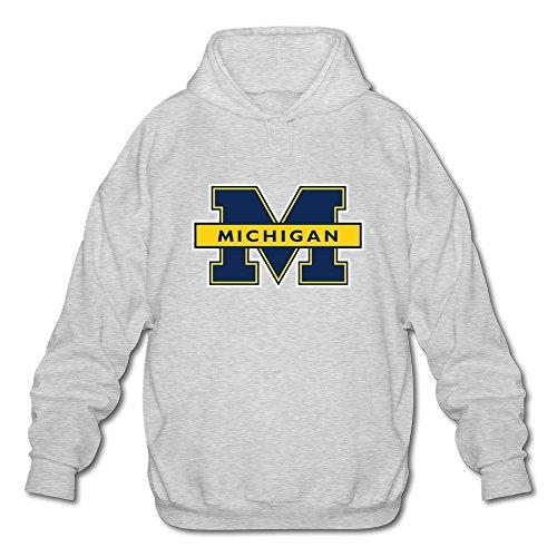 Nueva TBTJ Hombres de NCAA Michigan Wolverines Logo Pullover Sudadera con Capucha