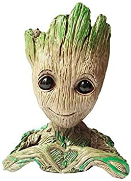 Guardians OF THE GALAXY Vol.2 Bambino Groot Figura Spazzola Pentola Vaso Da Fiori Plantpot Toy