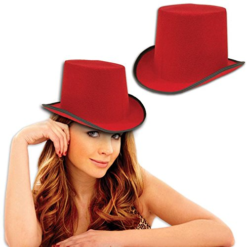 Red Felt Top Hat Costume Party Hat