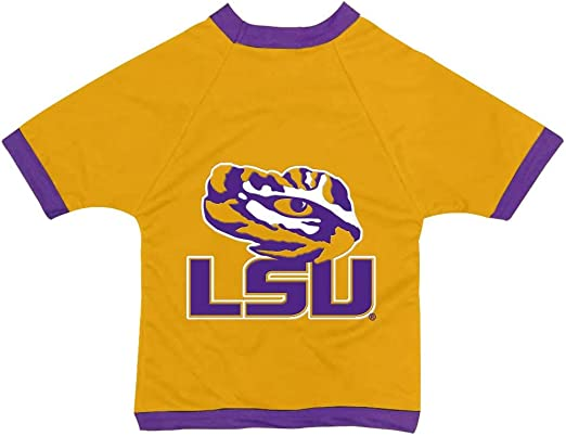 NCAA Louisiana State Tigers Athletic Mesh Dog Jersey