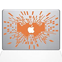 Looking Up in the Big City Vinyl Decal Sticker Skin for Apple Retina Macbook Air 13 inch Unibody Laptop in Persimmon
