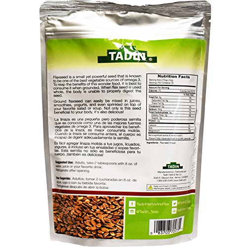 Amazon.com: Tadin Linaza-(Flax) Molida 15-Oz (Pack of 1): Health & Personal Care