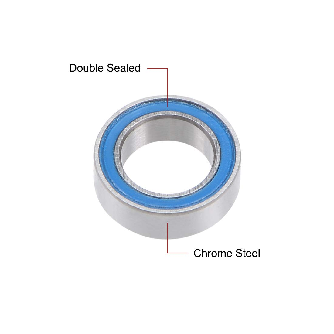 uxcell MR85-2RS Deep Groove Ball Bearing 5x8x2.5mm Double Sealed Chrome Steel Bearings 1-Pack