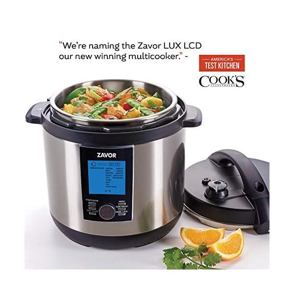 Zavor LUX LCD 6 Quart Programmable Electric Multi-Cooker: Pressure Cooker, Slow Cooker, Rice Cooker, Yogurt Maker… 2