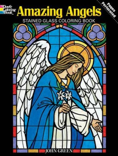 Amazon.com: Amazing Angels Stained Glass Coloring Book (Dover ...