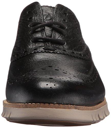 Cole Haan Mens Zerogrand Wing Ox Leather Oxford Nero / Bufalo Check / Ciottoli