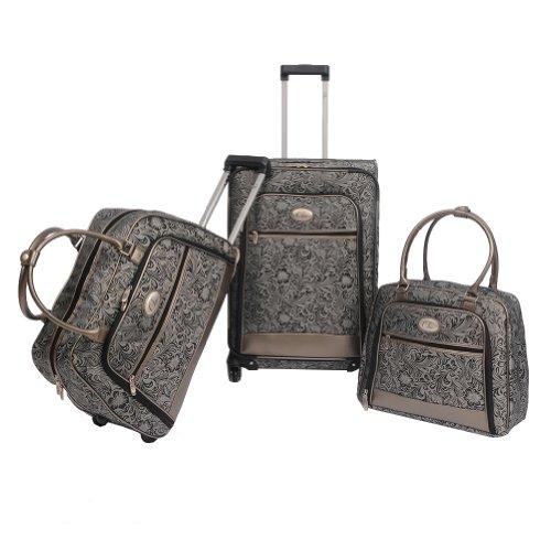 Chic Fashion 3 Piece Luggage Set Silver1: Amazon.ca: Luggage & Bags