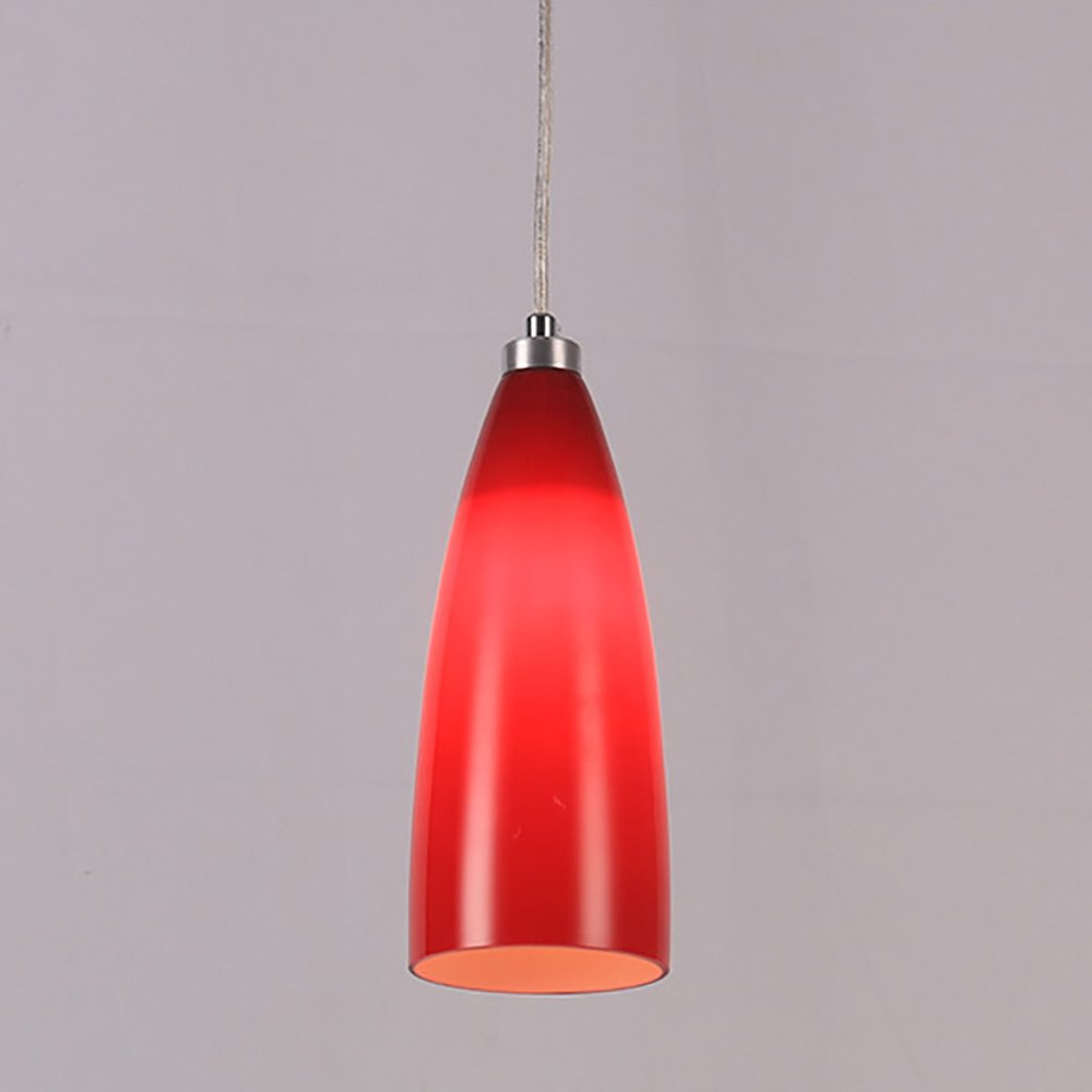 OOFAY Single Head Meals Chandeliers Northern Europe Bar Counter Coffee Shop Modern Multicolor Illumination Light Fixture,White