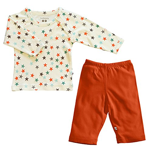 Organic World Tee Cotton (Babysoy Organic Star Tee and Comfy Solid Pants Set (Mix 3, 18-24 Months))