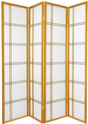 Legacy Decor 3 and 4 Panel Room Dividers in Black, Cherry, Natural, and White Color. by Legacy Decor