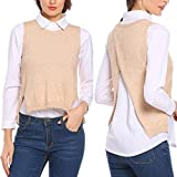 Product review for Elever Womens Casual Sleeveless Back Split Asymmetrical Pullover Sweater Vest