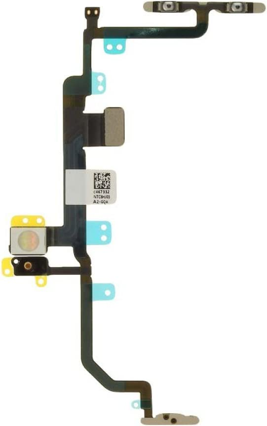Power, Volume, Mute Toggle /& Microphone with Glue Card Flex Cable for Apple iPhone 8 Plus CDMA /& GSM