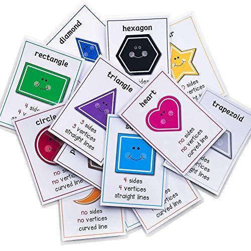 RICHARDY14 개양 기하학적인 그림은 인식은 영어 단어 플래시 카드 유아 아이들이 학습 카드 포켓 유치원 교육 장난감 유치원 공급