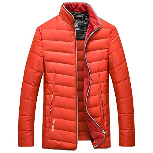 collar thick down jacket winter High Orange casual coat jacket quality men's LUOTIANLANG fashion qwvYxz40zc