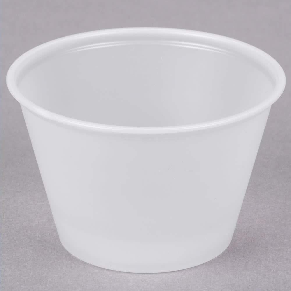 4 oz Plastic Souffle Cup Translucent - 2500 per case