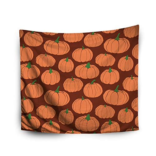 Jacrane Tapestry Wall Hanging with 50x60 Inches Halloween Pumpkins Pattern Autumn Pattern Pumpkins Orange Brown Background Art Tapestries for Bedroom Living Room Home Decor Wall Hanging Tapestries -