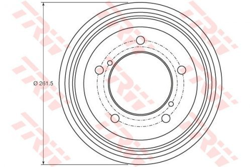 TRW DB4421 Brake Drums: