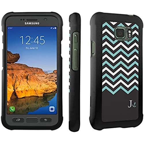 Galaxy S7 Active Case, DuroCase  Hard Case Black for Samsung Galaxy S7 Active (AT&T, 2016) SM-G891A - (Black Mint White Chevron J) Sales