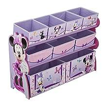 Delta Children Deluxe 9 Bin Toy Organizer, Disney Minnie Mouse