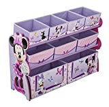 Delta Children Deluxe 9 Bin Toy Organizer, Disney Minnie Mouse