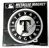 "Stockdale Texas Rangers 6"" Metallic MAGNET Silver Style Vinyl Die Cut Auto Home Baseball"